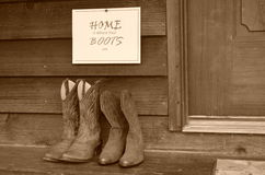 Home is where your boots are Stock Image