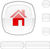 Home white button. Stock Photography