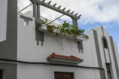 Home. White mediterranean house with balcony Stock Photography