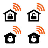 Home Wi-Fi vector signs Royalty Free Stock Photography