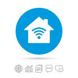 Home Wifi sign. Wi-fi symbol. Wireless Network. Royalty Free Stock Image