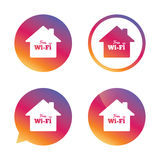 Home wifi sign. Wifi symbol. Wireless Network. Royalty Free Stock Images