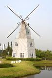 Home wind turbine. Royalty Free Stock Image