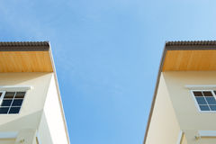 Home windows. Windows in the attic under the roof Royalty Free Stock Photos