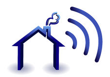 Home wireless connection royalty free illustration