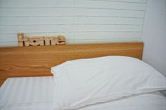 Home. (Woodcut word home) Home wood  in the room Stock Photography