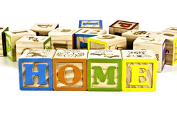 Home Word On Wooden Block Letters Royalty Free Stock Images