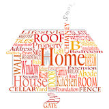 Home words Stock Images