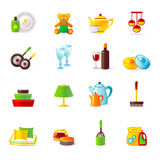 Home  work and home equipment icons Royalty Free Stock Images
