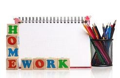Home work Royalty Free Stock Photography