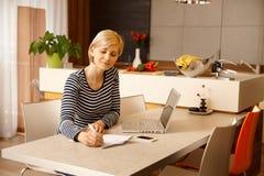 home working Royaltyfri Bild