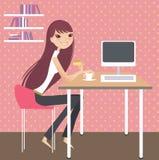 home working för dag stock illustrationer