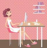 home working för dag vektor illustrationer