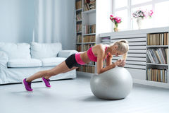 Home workout Stock Images