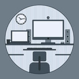 Home workplace vector illustration Stock Photography
