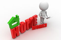 Home works concept Royalty Free Stock Photo