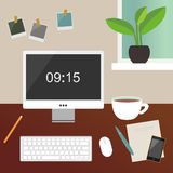 Home workspace illustration Royalty Free Stock Photo