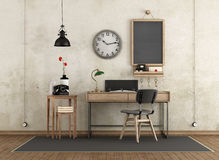 Home workspace in industrial style Royalty Free Stock Photography