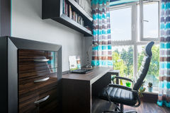 Home workspace in new style stock photo