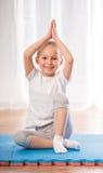 home yoga Arkivfoto