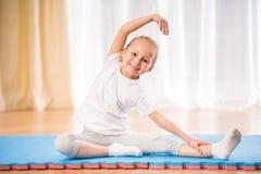 home yoga Royaltyfri Bild
