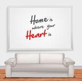 Home is when your is heart is Stock Photography