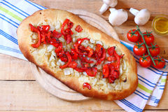Homeade focaccia bread Royalty Free Stock Photo