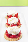 Homeade strawberry tart Royalty Free Stock Photos