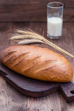 Homebaked bread. Close-up Stock Image