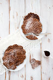 Homebaked Chocolate Waffles Royalty Free Stock Images