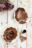 Homebaked Chocolate Waffles Royalty Free Stock Photography