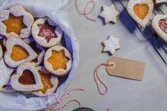 Homebaked Christmas Cookies royalty free stock photo