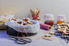 Homebaked Christmas Cookies royalty free stock image
