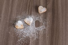 Homebaked cookies on a wooden background Stock Photo