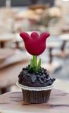 Festive cupcake Stock Image