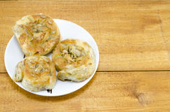Homebaked meat pie on a plate Stock Image