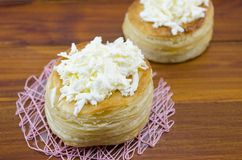 Homebaked puff pastry with cheese Royalty Free Stock Image