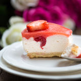 Homebaked Summer Berry Cheesecake Royalty Free Stock Photography
