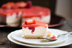 Homebaked Summer Berry Cheesecake Royalty Free Stock Photo