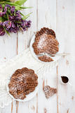 Homebaked Waffles шоколада Стоковое Фото