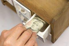 Homebanking US-Dollar Lizenzfreie Stockfotografie