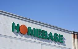 Homebase znak i loga oznakować zdjęcie stock