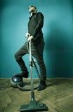 Homeboy Vacuuming Royalty Free Stock Photography