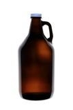 Homebrew Beer in Growler. A 64 ounce growler that contains bottle conditioned beer Stock Photography