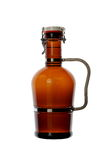 Homebrew Beer in Swing Top Growler with Handle. A 64 ounce growler that contains bottle conditioned beer Stock Image