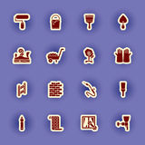 Homebuilding and construction icons set Royalty Free Stock Image