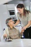 Homecare dla starsi ludzi obrazy royalty free