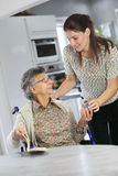 Homecare for elderly people royalty free stock images