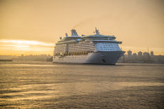 Homecoming. Cruise ship coming into Sydney Harbour Royalty Free Stock Image