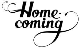 Free Homecoming - Custom Calligraphy Text Stock Images - 178471384